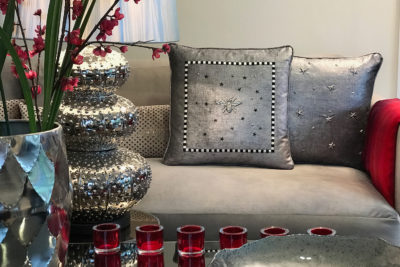 Decorative Cushion on couch.