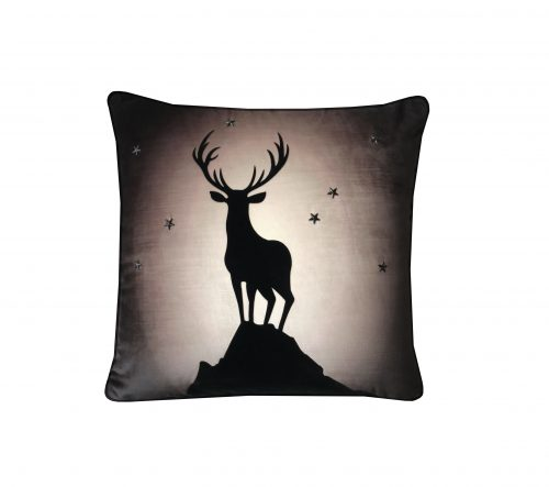 Stag in silhouette throw pillow.