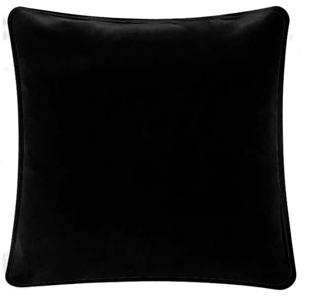 Plain Black Velvet Cushion.