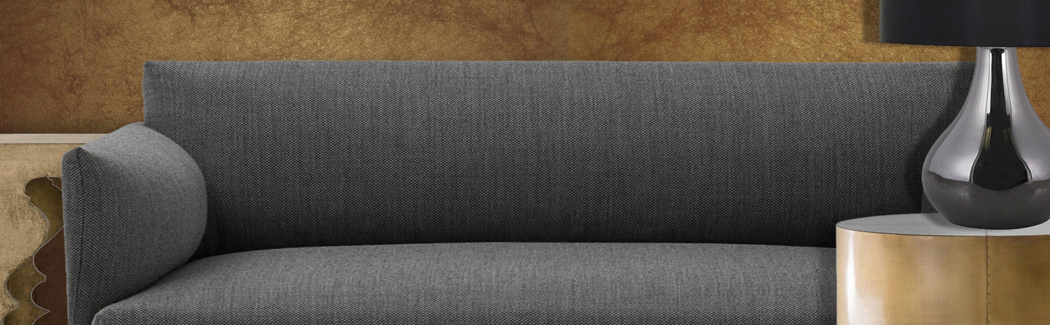 Plain Grey Sofa. No accent.