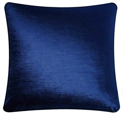 Plain Blue Velovet Cushion.