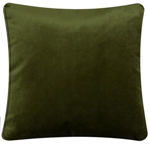 Plain Green Velvet Cushion.
