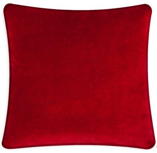 Plain Red Velvet Cushion Throw Pillow.