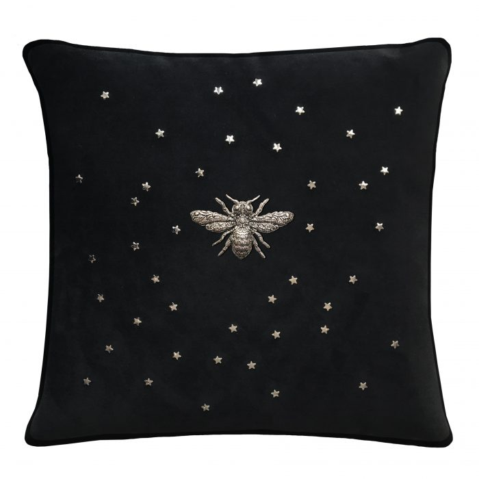 Bee throw pillow with stars