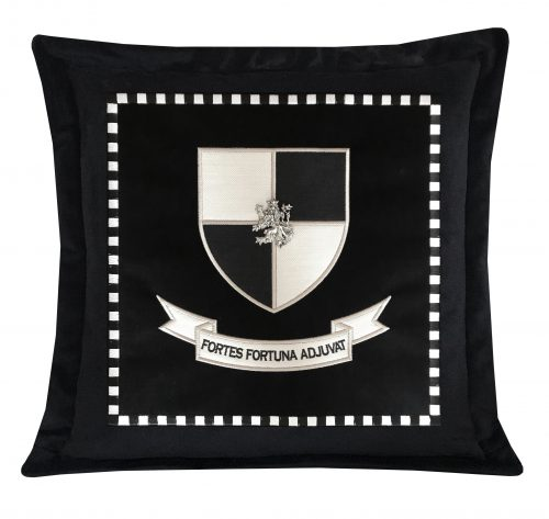 Lion of Courage Throw Pillow with Check Square.