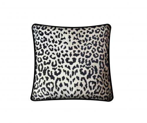 Leopard print throw pillow.